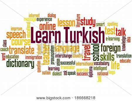 Learn Turkish, Word Cloud Concept