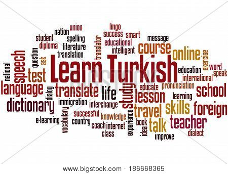 Learn Turkish, Word Cloud Concept 3