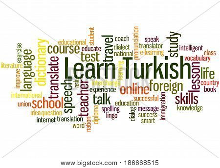Learn Turkish, Word Cloud Concept 5