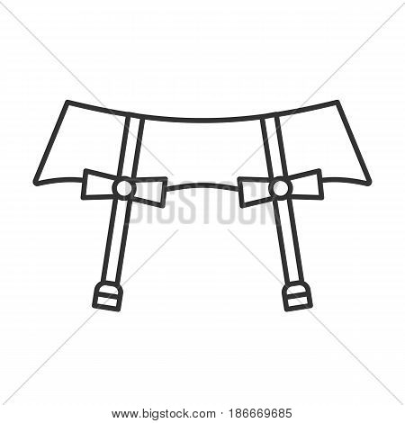 Underwear garters linear icon. Thin line illustration. Contour symbol. Vector isolated outline drawing