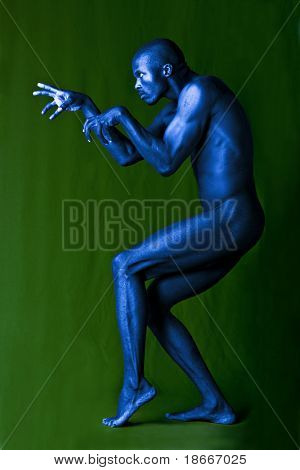 Artistic expression of an African american form and shape