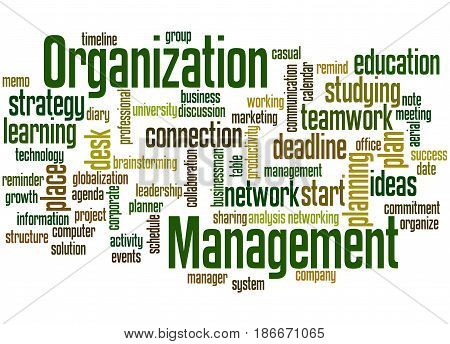 Organization Management, Word Cloud Concept 6