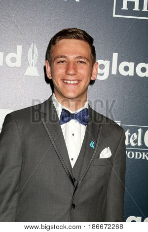 LOS ANGELES - APR 1:  Bobby Brooks at the 28th Annual GLAAD Media Awards at Beverly Hilton Hotel on April 1, 2017 in Beverly Hills, CA