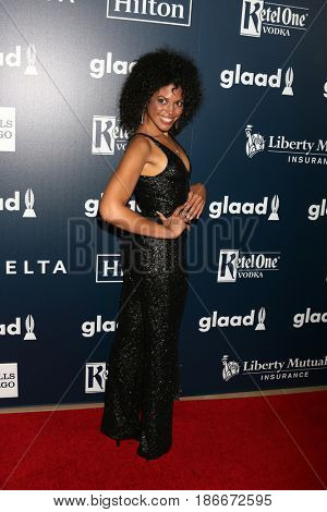 LOS ANGELES - APR 1:  Karla Mosley_ at the 28th Annual GLAAD Media Awards at Beverly Hilton Hotel on April 1, 2017 in Beverly Hills, CA