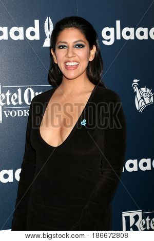 LOS ANGELES - APR 1:  Stephanie Beatriz at the 28th Annual GLAAD Media Awards at Beverly Hilton Hotel on April 1, 2017 in Beverly Hills, CA