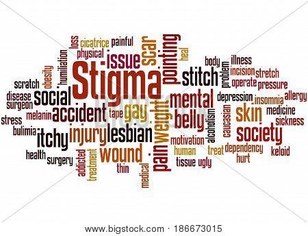Stigma, Word Cloud Concept