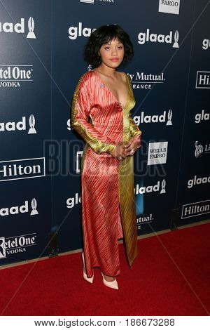 LOS ANGELES - APR 1:  Kiersey Clemons at the 28th Annual GLAAD Media Awards at Beverly Hilton Hotel on April 1, 2017 in Beverly Hills, CA