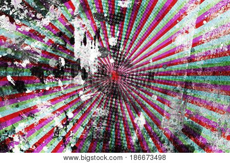 grunge paint with rays background