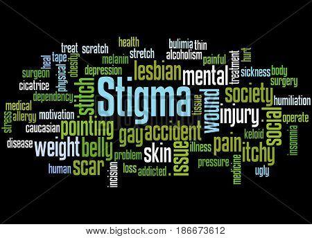 Stigma, Word Cloud Concept 6