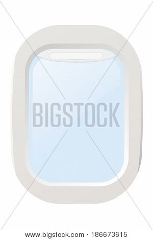 Airplane illuminator. Window. Isolated on white background. Vector illustration