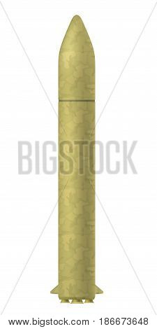 Military atomic rockets on a white background. Vector illustration