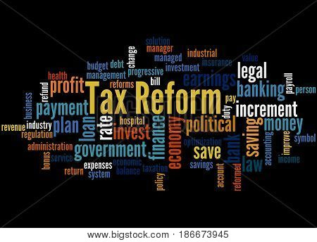 Tax Reform, Word Cloud Concept 3