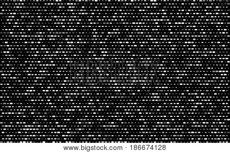 Poster Grey White Dotted Line Of Different Sizes With Transparency. Black Abstract Background. Halft