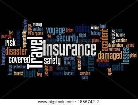 Travel Insurance, Word Cloud Concept 3