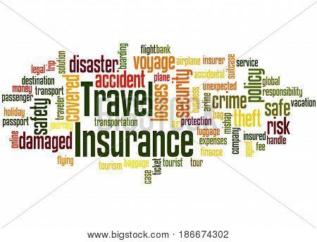 Travel Insurance, Word Cloud Concept 5