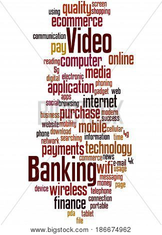 Video Banking, Word Cloud Concept 4