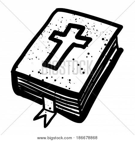 Cartoon image of Bible Icon. Religion symbol. An artistic freehand picture.