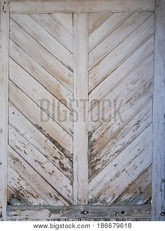 Painted fence Light Wood panel background. Old vintage planked diagonal wooden texture. Boards empty clear background for flat lay photo design