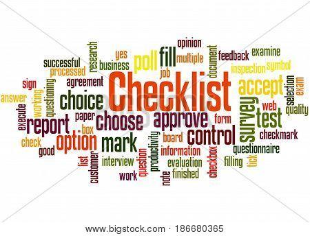 Checklist, Word Cloud Concept 5