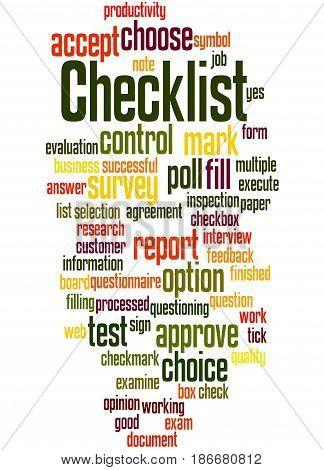 Checklist, Word Cloud Concept 6