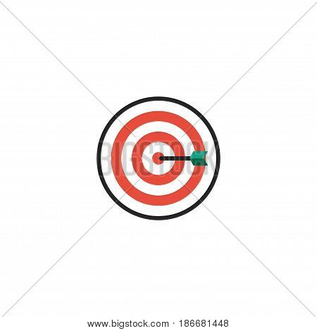 Flat Darts Element. Vector Illustration Of Flat Arrow  Isolated On Clean Background. Can Be Used As Darts, Arrow And Game Symbols.