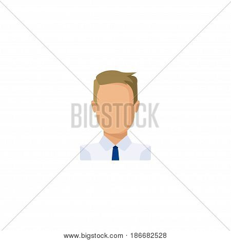 Flat Businessman Element. Vector Illustration Of Flat Employee Isolated On Clean Background. Can Be Used As Businessman, Job And Employee Symbols.