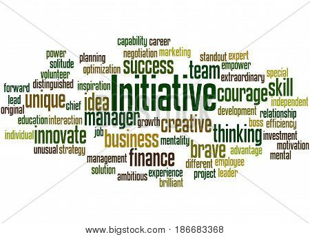 Initiative, Word Cloud Concept 6