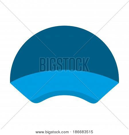 colorful silhouette with delivery cap vector illustration