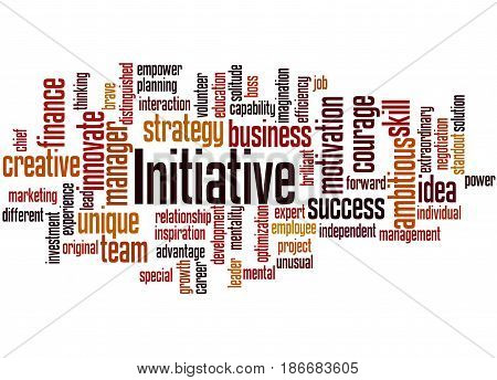 Initiative, Word Cloud Concept 8