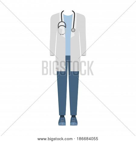 colorful silhouette with male doctor clothing vector illustration