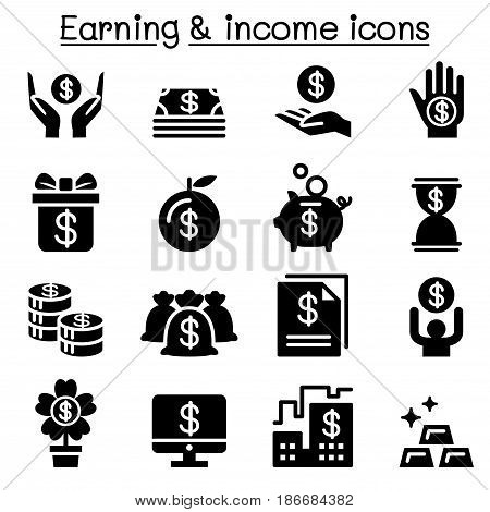 Earning Money income icon set vector illustration Graphic design