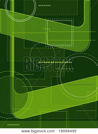 bright green abstract design background, technology style
