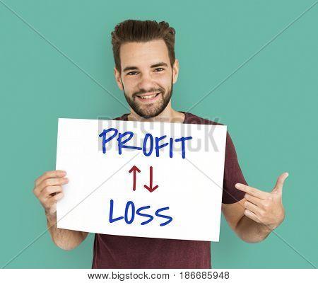 Profit Loss Arrow Up Down Word