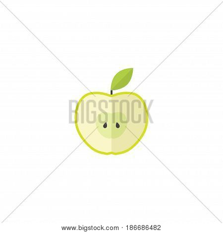 Flat Apple Element. Vector Illustration Of Flat Jonagold Isolated On Clean Background. Can Be Used As Apple, Jonagold And Fruit Symbols.
