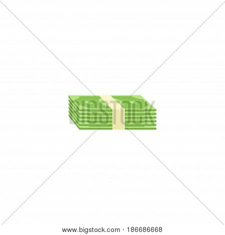 Flat Salary Element. Vector Illustration Of Flat Cash Stack Isolated On Clean Background. Can Be Used As Stack, Money And Salary Symbols.