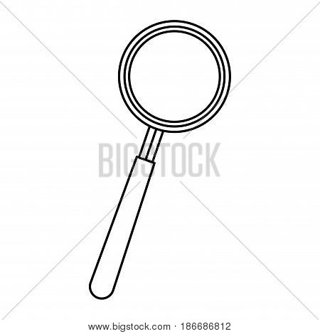 magnifier search find technology object vector illustration