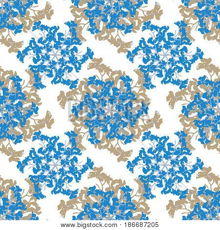 Nature Lace Floral Collage Seamless Pattern
