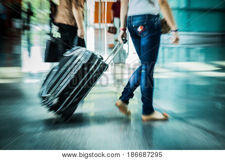 Luggage airport suitcases baggage tourists traveler hand luggage