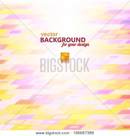 Abstract purple yellow background with geometric elements rectangle. Vector illustration.