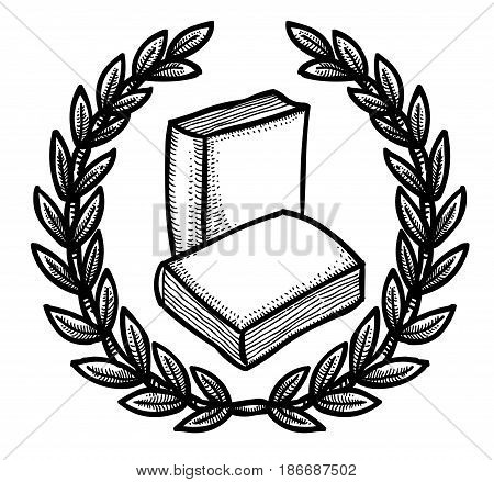 Cartoon image of Book Icon. Education symbol. An artistic freehand picture.