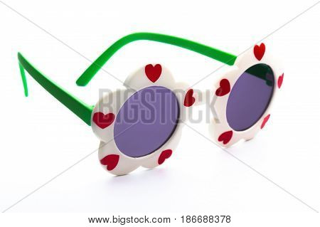 Sunglasses glasses eyeglasses shades eyewear horn rimmed isolated on white
