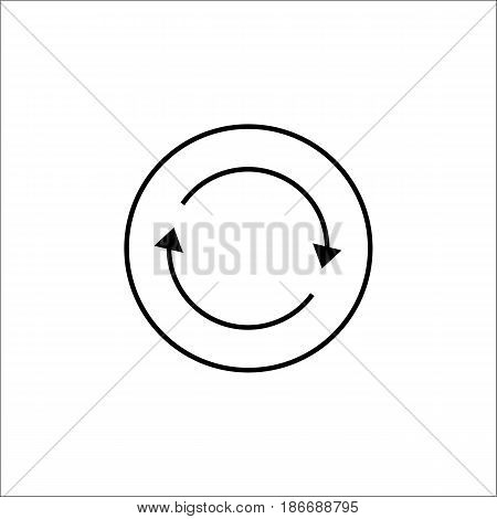 Synchronization solid icon, mobile sign and app, vector graphics, filled pattern on a white background, eps 10.