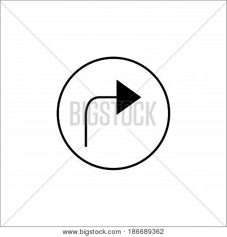 Arrow forward solid icon, mobile sign and Next pictogram, vector graphics, a filled pattern on a white background, eps 10.