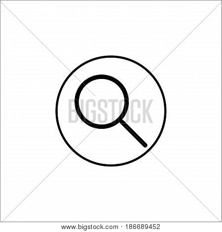 Search filled icon, mobile sign and magnifier pictogram, vector graphics, a filled pattern on a white background, eps 10.