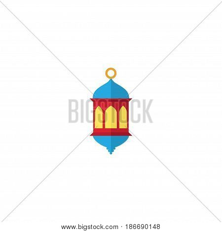Flat Lantern Element. Vector Illustration Of Flat Islamic Lamp Isolated On Clean Background. Can Be Used As Islamic, Ramadan And Lantern Symbols.