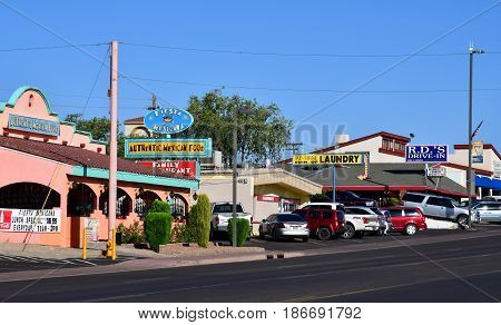 Arizona USA - july 8 2016 : the city of Page created in 1957