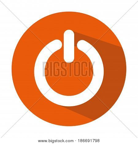 power switch button icon vector illustration design