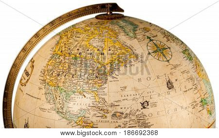 Globe planet hemisphere sphere old tourism earth