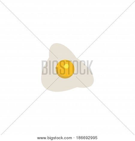 Flat Fried Egg Element. Vector Illustration Of Flat Omelette Isolated On Clean Background. Can Be Used As Fried, Egg And Omelette Symbols.