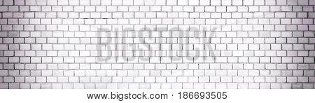 White Brick Wall Background Texture Of Stone Blocks Light, Panorama